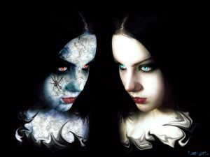 Good vs evil Gothic Girl
